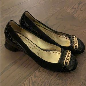 Shoes - Gold chain flats